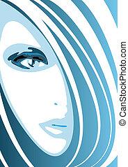 blå ansigt