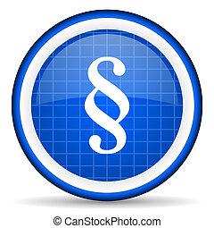 blå, avsnitt, glatt, bakgrund, vit, ikon
