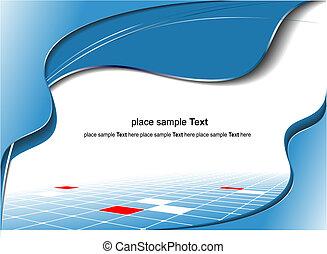 blå, bakgrund., vektor, affärsverksamhet illustration