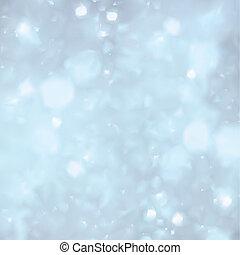 blå, bakgrund., vektor, jul