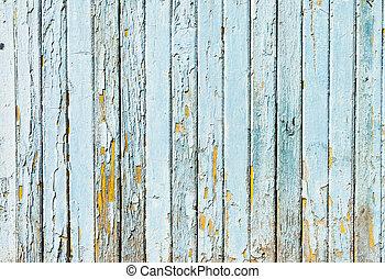 blå, begrepp, årgång, vägg, ved, bakgrund