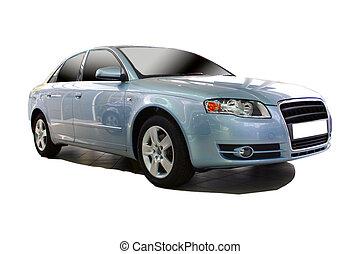 blå bil, sports