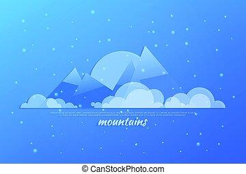 blå bjerg