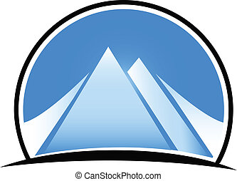 blå bjerg, logo