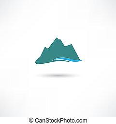 blå bjerg, symbol