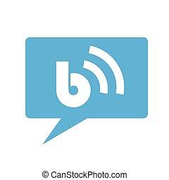 blå,  blog, ikon, anförande, bubbla
