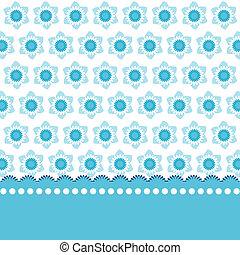 blå, blomstrede, baggrund