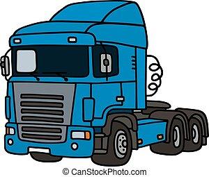 blå, bogsering, lastbil