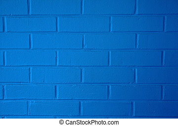 blå, brickwall