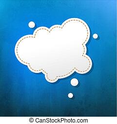 blå, bubbla, anförande, struktur