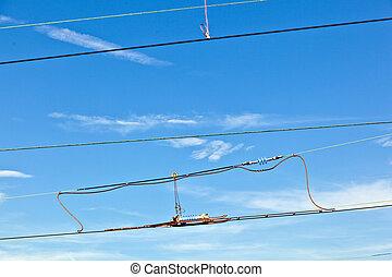 blå, catenary, sky