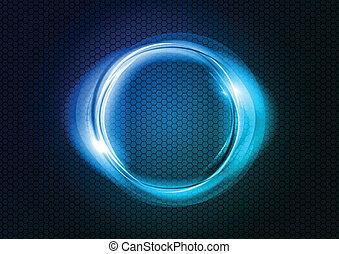 blå, cirkel