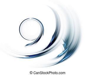 blå, cirkel, in, snar, rörelse, roterande