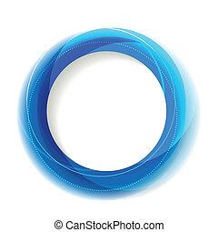 blå, cirkel, ramme