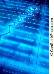 blå, data, arealet