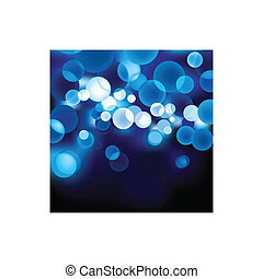 blå, defocused, lätt