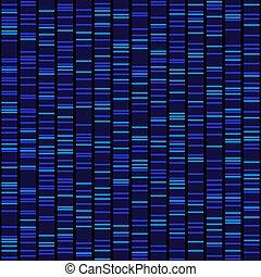 blå, dna sekvens, resultat, seamless, bakgrund., vektor, svart