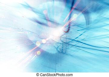 blå, energi, bakgrund