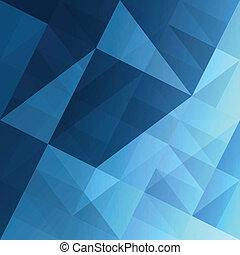 blå, eps10, abstrakt, baggrund., vektor, trekanter