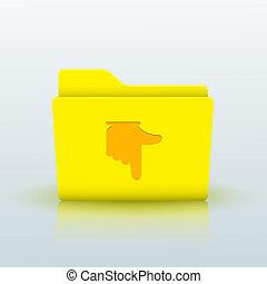 blå, eps10, gul, bakgrund., vektor, mapp
