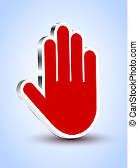 blå, eps10, illustration, bakgrund., vektor, palm, röd, ikon