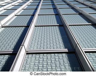 blå, fönstren, nymodig, glas, mönster