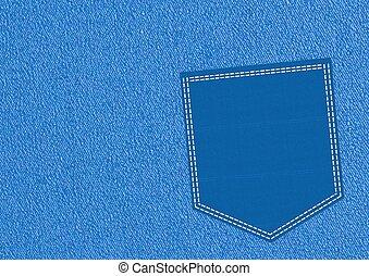 blå, ficka
