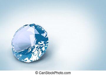 blå, firkanter, isoleret, på hvide