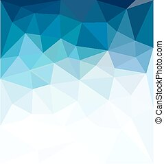 blå, firma, abstrakt, vektor, baggrund, mosaik
