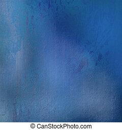 blå, fläckat, grunge, bakgrund, strukturerad