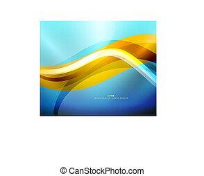 blå form, bølge