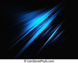 blå, fraktal, bakgrund