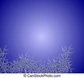 blå, frost