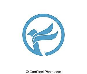 blå fugl logo