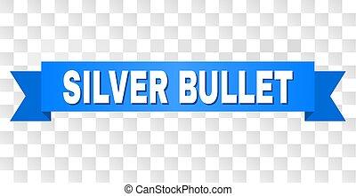 blå galon, med, silver projektil, titel