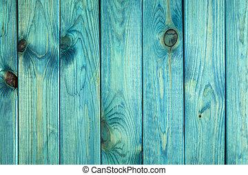 blå, gammal, målad, struktur, ved, bakgrund, eller