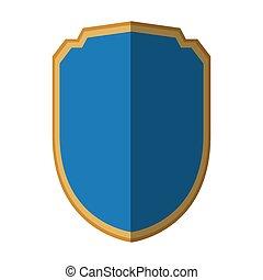 blå, garanti, skjold, beskyttelse, skygge, grafik