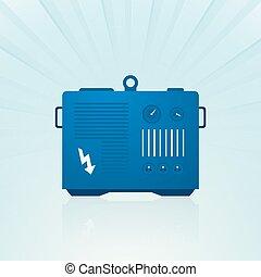 blå, generator