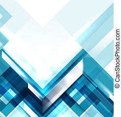 blå, geometrisk, nymodig, abstrakt, bakgrund