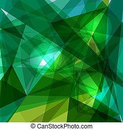 blå, geometriske, grønne, transparency.