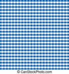 blå, gingham, seamless, mønster
