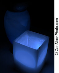 blå glas