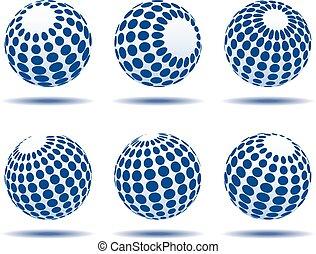 blå glob, ikonen