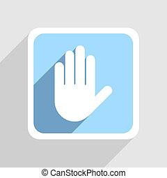 blå, grå, eps10, bakgrund., vektor, ikon