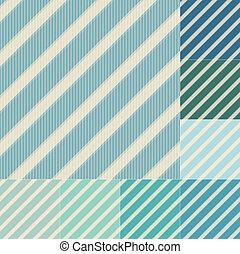 blå grønnes, seamless, striber