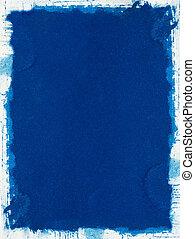 blå, grunge, papper