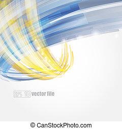 blå, guld, abstrakt, lysande, vektor, bakgrund