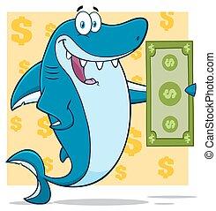blå haj, lagförslag, dollar, holdingen