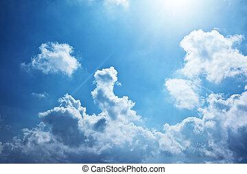blå himmel, baggrund