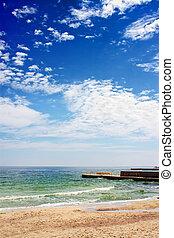 blå himmel, hav